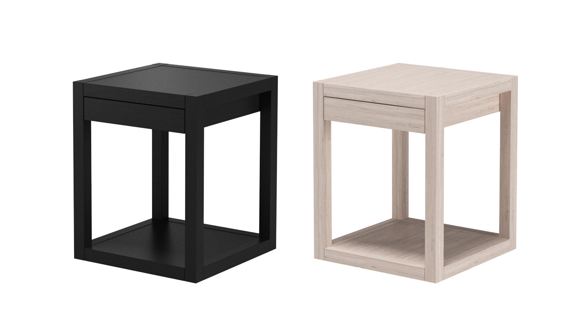 Qube bedside table